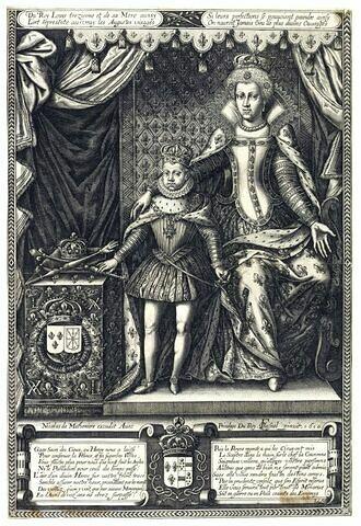 Marie de Médicis et Louis XIII enfant