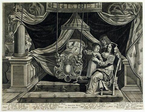 Le berceau royal du Duc D'Anjou