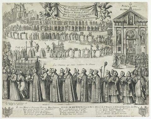 Procession de la châsse de Saint Germain - 1652