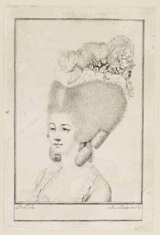 Coiffure de femme, époque Louis XVI