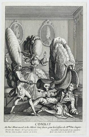 Combat du Duc de Montanciel et du Milord Sans Façon