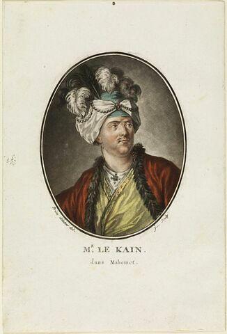 Portrait de l'acteur Lekain