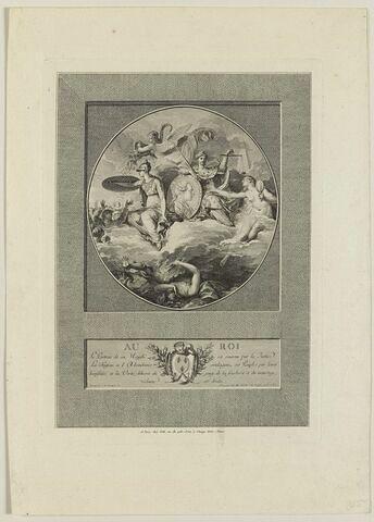 Pièce allégorique à la gloire de Louis XVI
