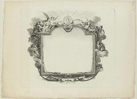 Cartouche avec le portrait de Louis XVI