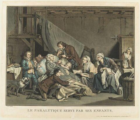 Le paralytique servi par ses enfants