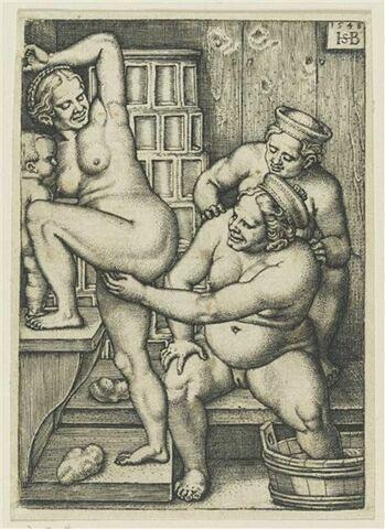 Les trois femmes au bain