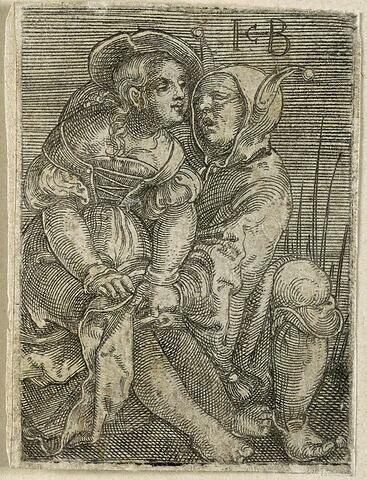 La jeune femme et le fou