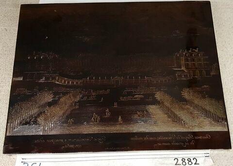 Château royal de Versailles, vue du milieu de la grande avenue