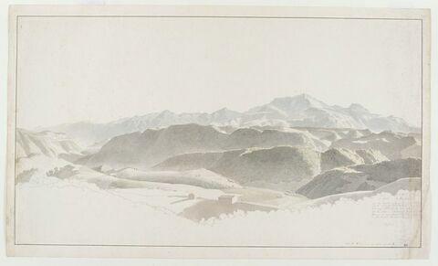 Vue des Monts Sabins avec Monte Velino, près de Rieti
