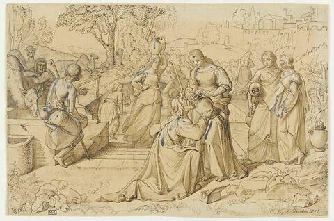 Jacob et Rébecca au puits ou Eliezer et Rébecca