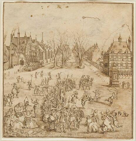 Vue de Voorhout à la Haye