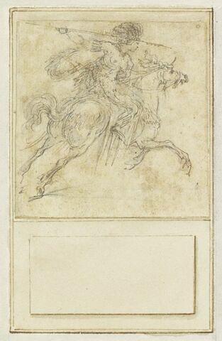 Projet de cartes à jouer : Cavalier au galop, une lance à la main