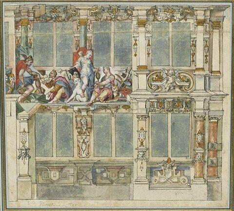 Décoration d'une façade de palais