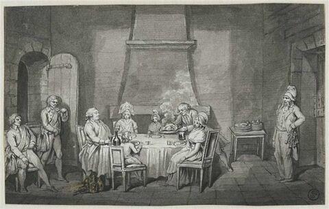 Premier repas de Louis XVI et de sa famille dans sa prison du Temple