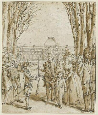 Le Dauphin se promenant dans le jardin des Tuileries
