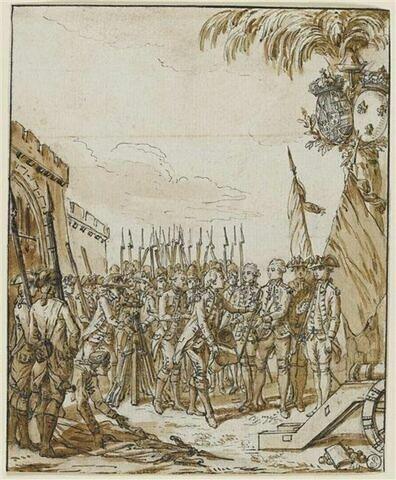Capitulation d'une ville : Scène relative à la guerre d'Amérique
