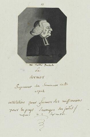 Abbé Becket, Supérieur du Séminaire du St Esprit
