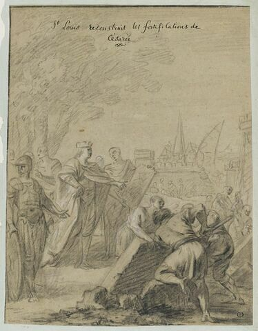 Saint Louis reconstruit les fortifications de Césarée