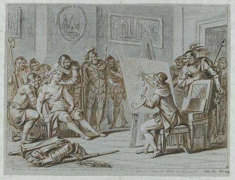 Balthazar Peruzzi peignant le Connétable de Bourbon