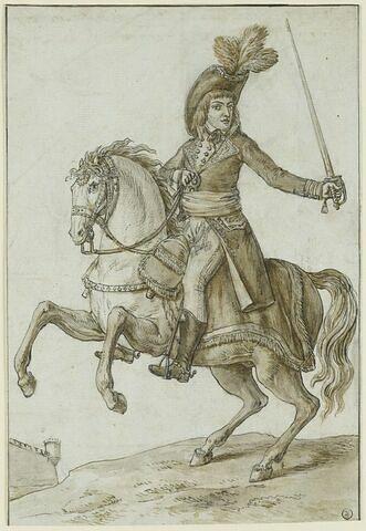 Portrait équestre de Bonaparte l'épée à la main