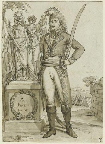 Bonaparte couronné par la paix
