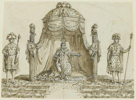 Napoléon Ier assis sur son trône