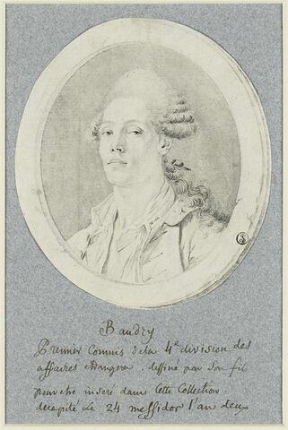 Baudry dessiné par son fils, décapité le 24 messidor, an II