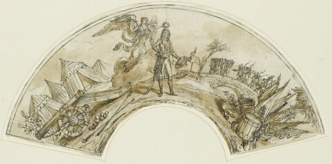 Bonaparte couronné par la Victoire