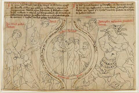 David tranchant la tête de Goliath; Descente du Christ aux Limbes; Samson et le lion; Prophètes : David, Osée, Zacharie, Jacob
