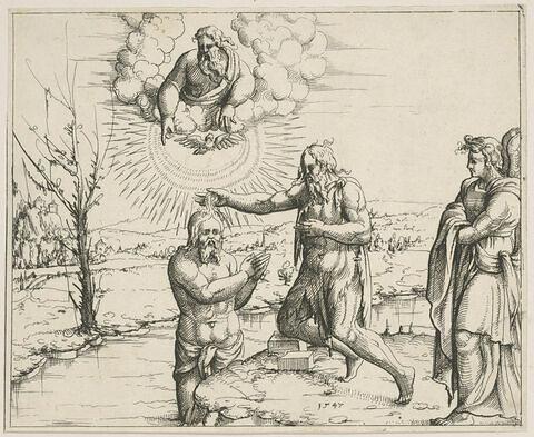 Histoires de l'Ancien et du Nouveau Testament. Le Baptême du Christ
