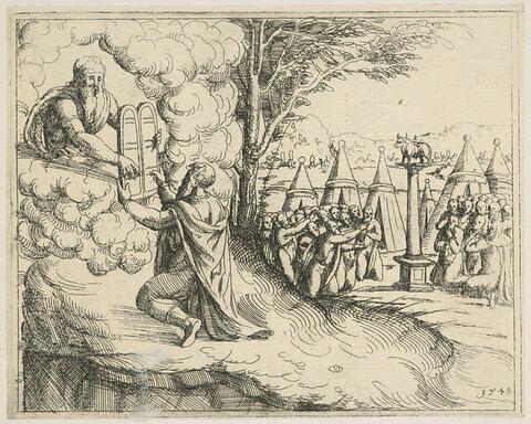 Histoires de l'Ancien et du Nouveau Testament. Moïse recevant les Tables de la Loi