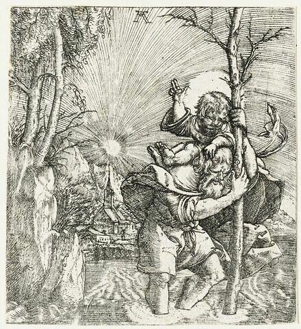 Saint Christophe portant l'Enfant