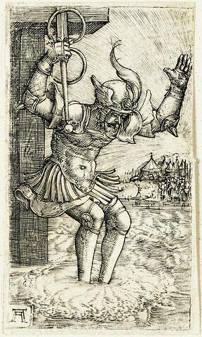 Horace sautant dans le Tibre