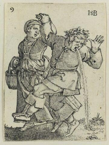 Couple dansant vers la gauche.
