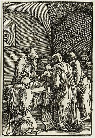 La Présentation au Temple  : Chute et Rédemption de l'Humanité, suite de quarante bois gravés