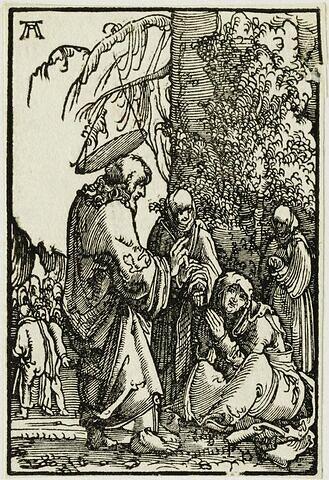 Le Christ prenant congé de sa mère  : Chute et Rédemption de l'Humanité, suite de quarante bois gravés