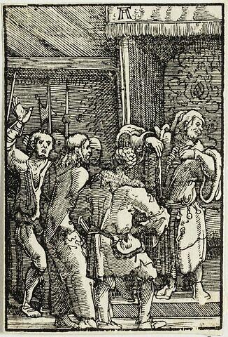 Le Christ devant Caïphe  : Chute et Rédemption de l'Humanité, suite de quarante bois gravés