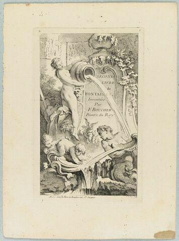 Second livre de Fontaines : Frontispice