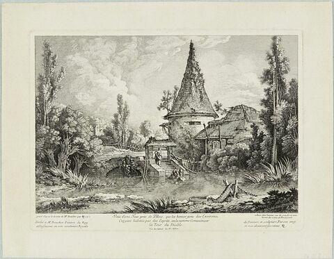 Vue d'une tour près de Blois
