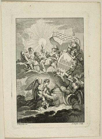 Frontispice pour le Bâtiment de Saint-Sulpice