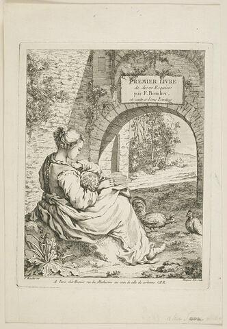 Premier livre de diverses esquisses. Frontispice