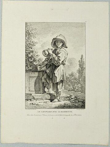 Le Savoyard avec sa marmotte