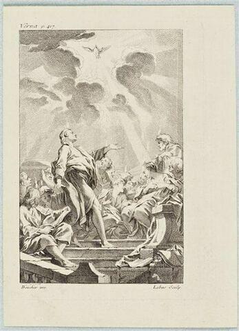 Illustration pour le Bréviaire de Paris: La descente du Saint-Esprit