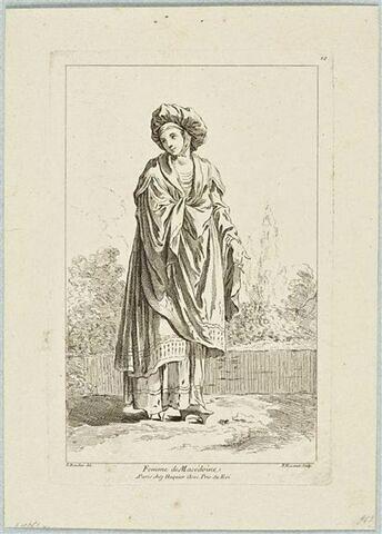Recueil de diverses figures étrangères : Femme de Macédoine