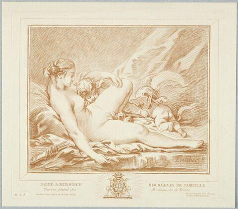 Femme nue et deux amours