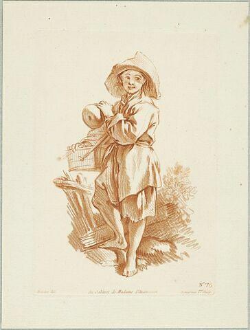 Jeune paysan Savoyard debout
