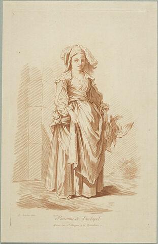 Recueil de diverses figures étrangères : Paysanne de Larchipel