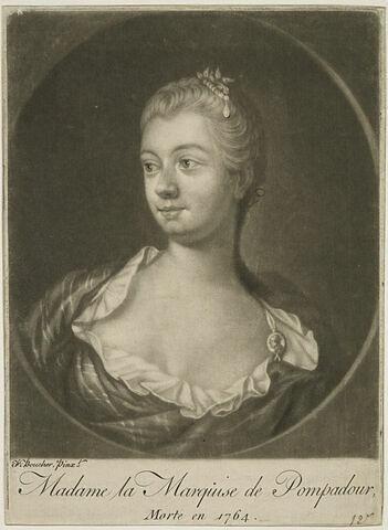 Portrait de la Marquise de Pompadour