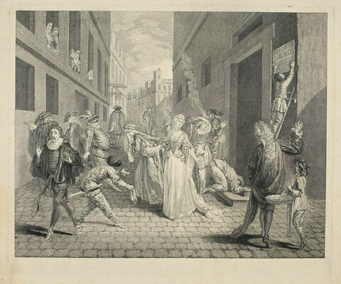 Départ des comédiens italiens en 1697