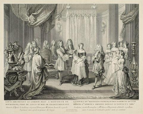 Louis XIV mettant le cordon bleu à M. de Bourgogne